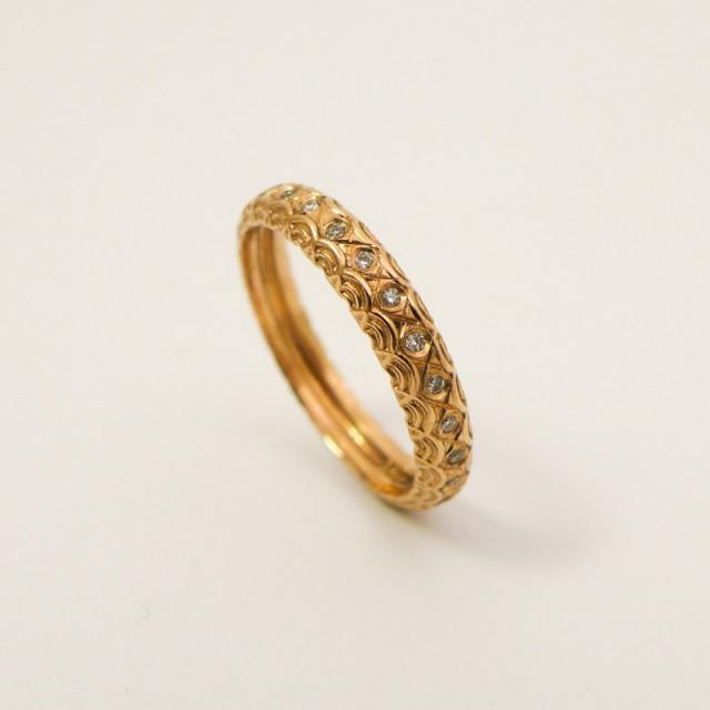 Unique Engagement Ring Rose Gold And Diamonds Wedding