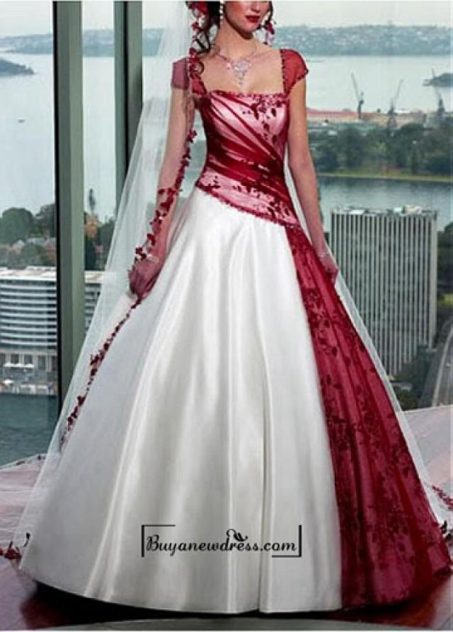 wedding photo - Beautiful Elegant A-line Skirt Wedding Gown