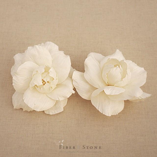 Bridal Ivory Flower Hair Accessories : Vintage inspired bridal head piece hair flowers
