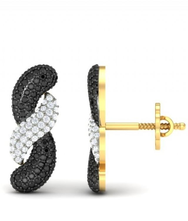 wedding photo - The Black Gold Diamond Earrings