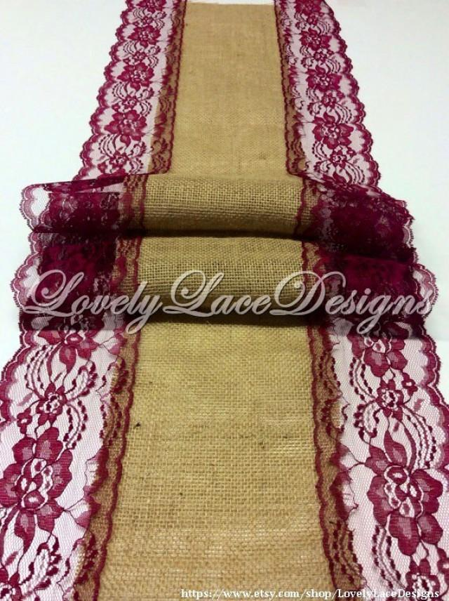 Wedding burlaptable runner 12ft 20ft long x13in wide wine for 12 ft table runner