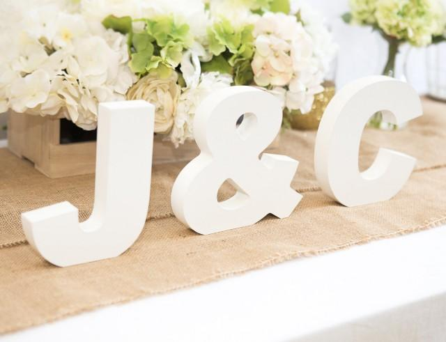 Wooden letters freestanding wedding initial signs for Ampersand decoration etsy