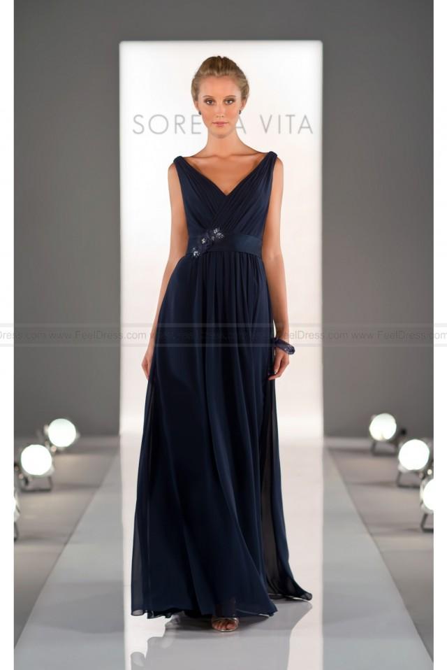 wedding photo - Sorella Vita Navy Blue Bridesmaid Dress Style 8360