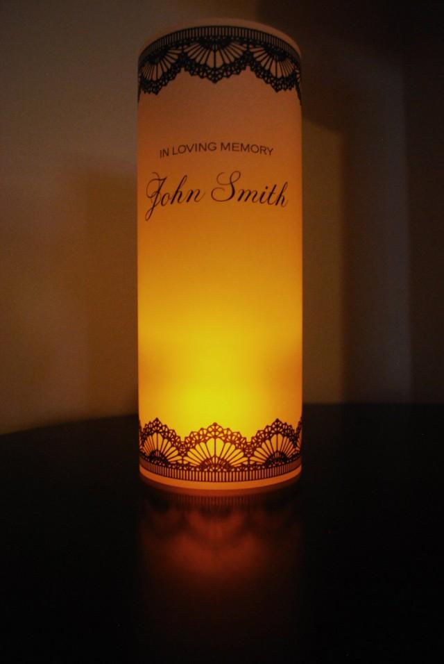 In Loving Memory Vellum Paper Luminary Memorial Remembrance Led Candle Luminaries Wedding Honor Loved One Mom Dad Grandparents Aunt Uncle 2447321