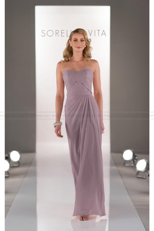 wedding photo - Sorella Vita Long Chiffon Bridesmaid Dress Style 8416