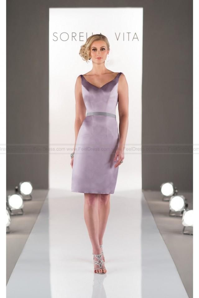 wedding photo - Sorella Vita Bridesmaid Dress In Satin Style 8506