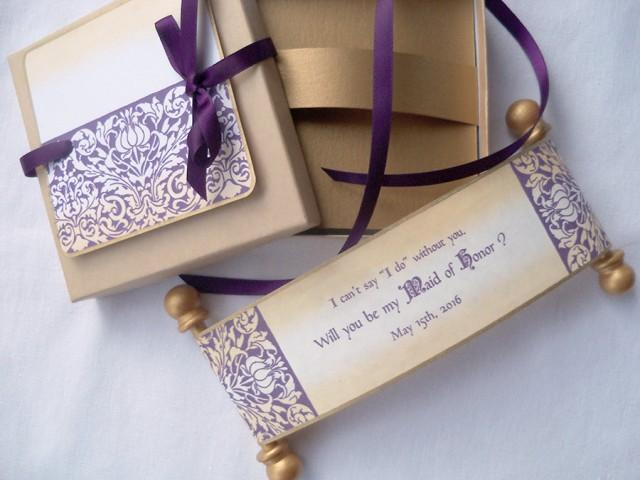 Honor Or Honour On Wedding Invitations: Will You Be My Maid Of Honor Wedding Invitation