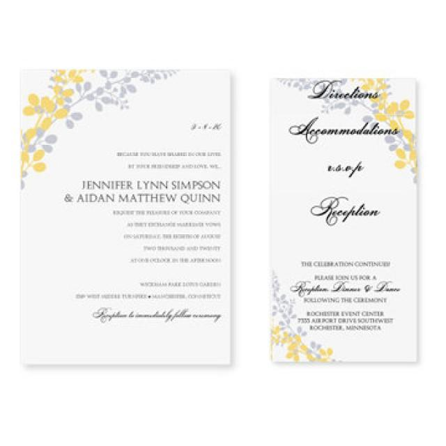 Pocket Wedding Invitation Template Set Download Instantly