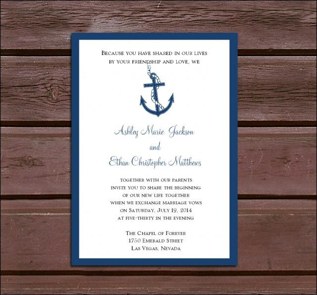 Calendar Ideas Reception : Nautical beach wedding invitations rsvp s reception