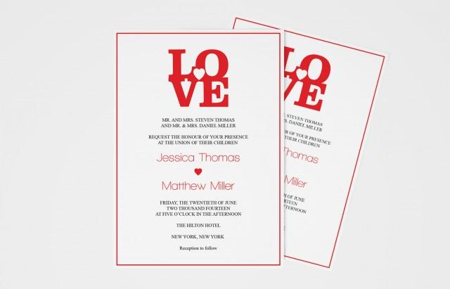 wedding photo - LOVE Wedding Invitation Templates