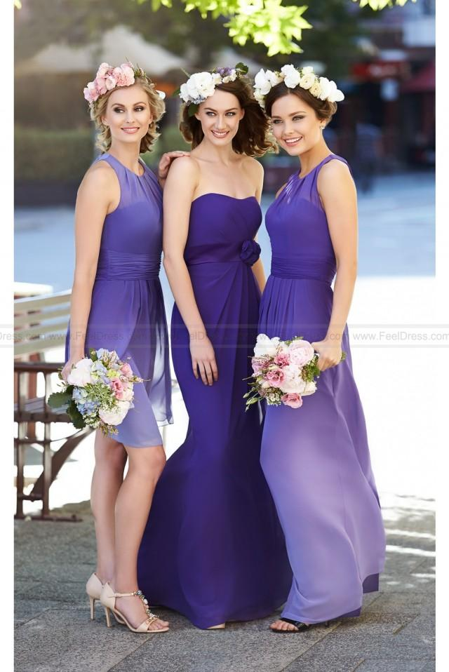 wedding photo - Sorella Vita Purple Ombre Bridesmaid Dress Style 8458OM