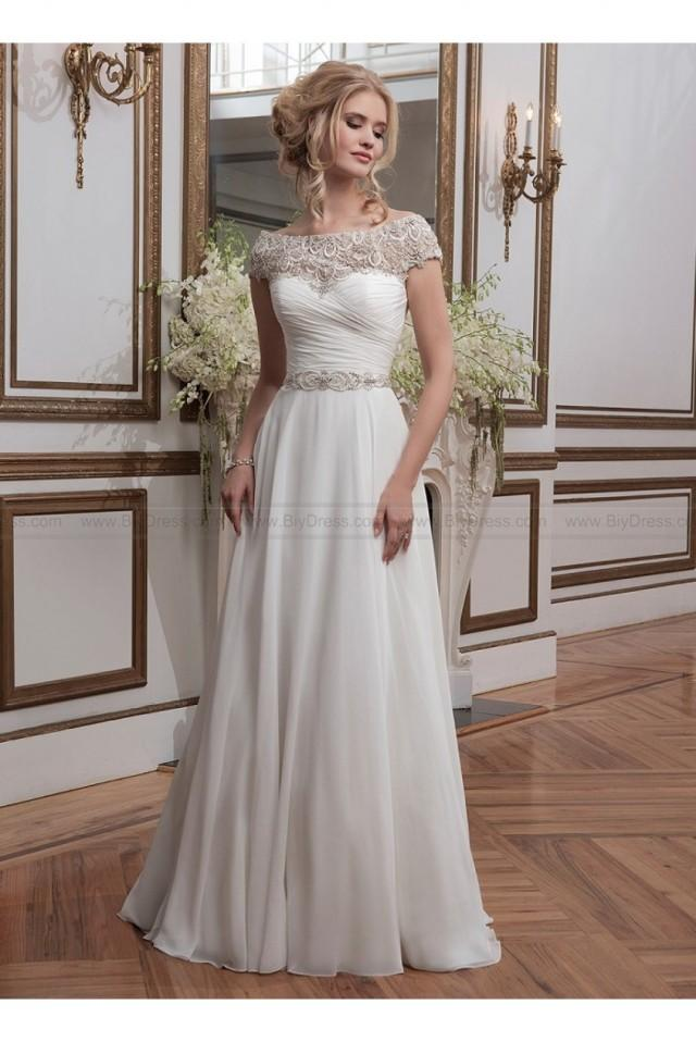 wedding photo - Beaded embroidery and chiffon ball gown justin alexander 8799 wedding dress