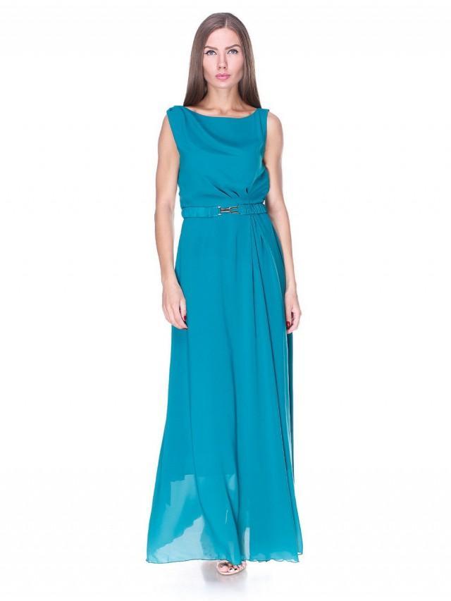 Turquoise evening dress chiffon maxi dress wedding dress for Long maxi dresses for weddings