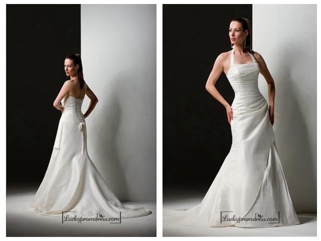 wedding photo - Beautiful Elegant Exquisite Taffeta Sheath Wedding Dress In Great Handwork