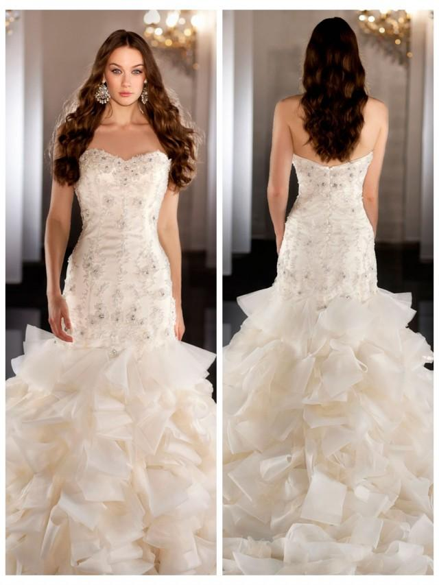 Tulle organza sweetheart beading ball gown wedding dress for Tulle and organza wedding dresses