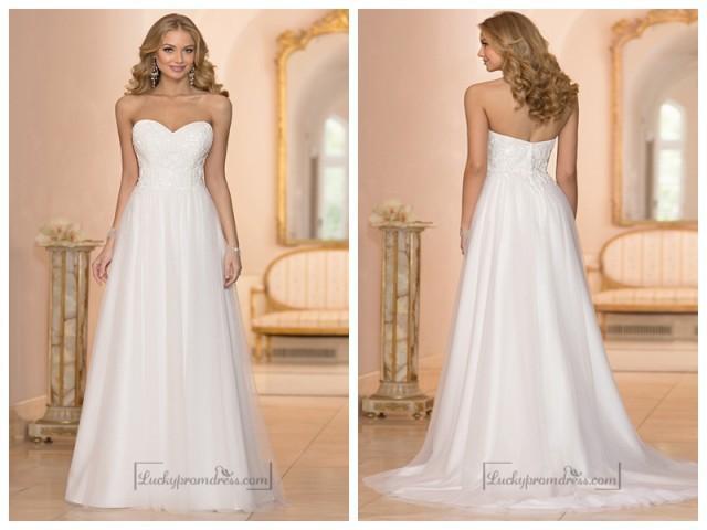 wedding photo - Sweetheart Crystal Beaded A-line Wedding Dresses