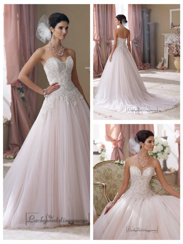wedding photo - Strapless Hand-beaded Embroidered Sweetheart Ball Gown Wedding Dresses