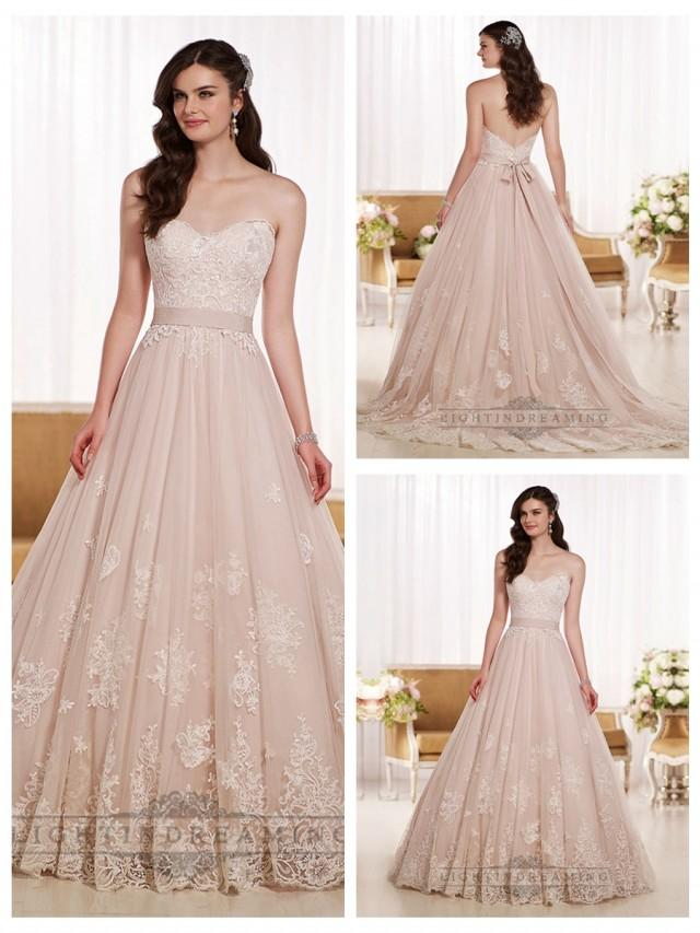 wedding photo - Gorgeous Sweetheart A-line Lace Wedding Dresses