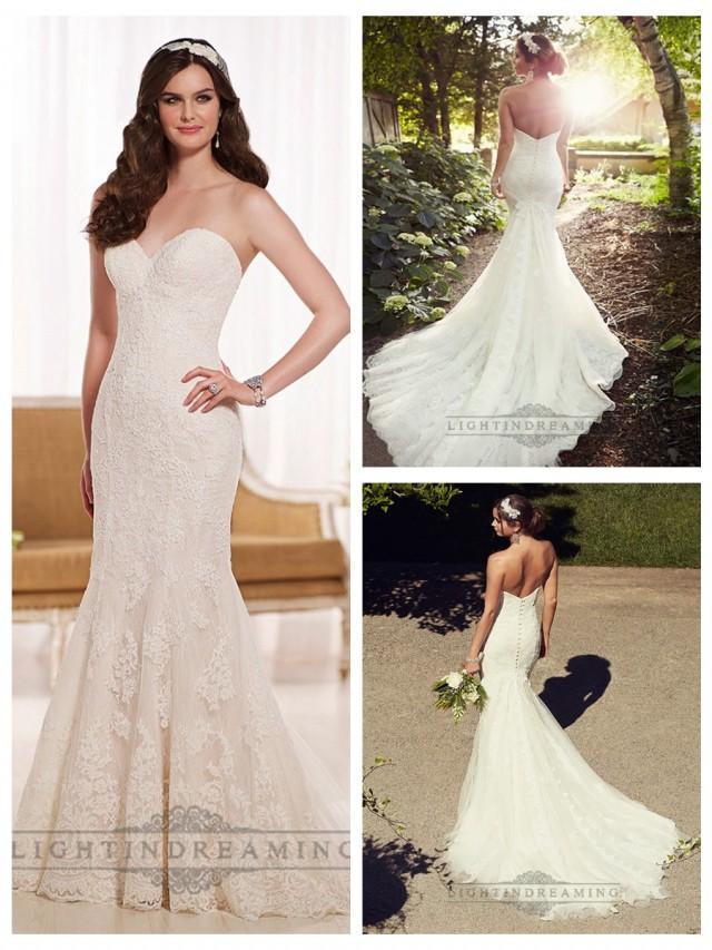 wedding photo - Elegant Fit and Flare Sweetheart Lace Wedding Dresses