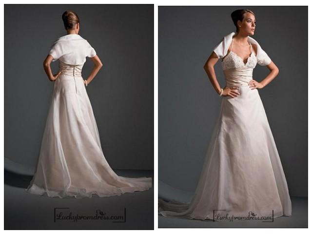 wedding photo - Beautiful Elegant Exquisite Wedding Dress In Great Handwork