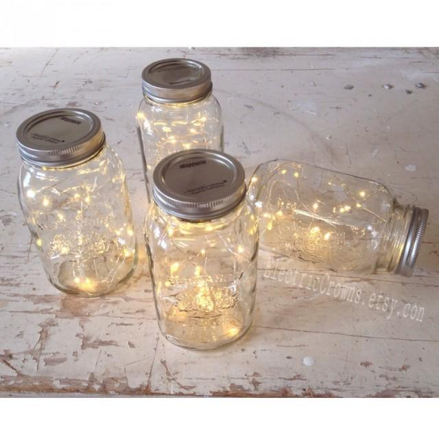 Vintage Wedding Ideas Mason Jars: 12, Mason Jar Lights Rustic Wedding Decorations Vintage