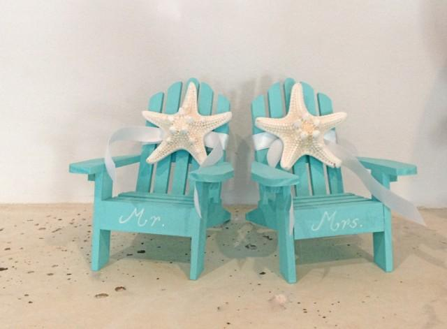 Mini Adirondack Chairs Cake Topper