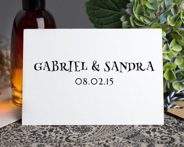 Save the dates, Invitations, Custom Return Address Stamp, Modern Calligraphy stamp, Custom wedding address stamp, Personalised Stamp