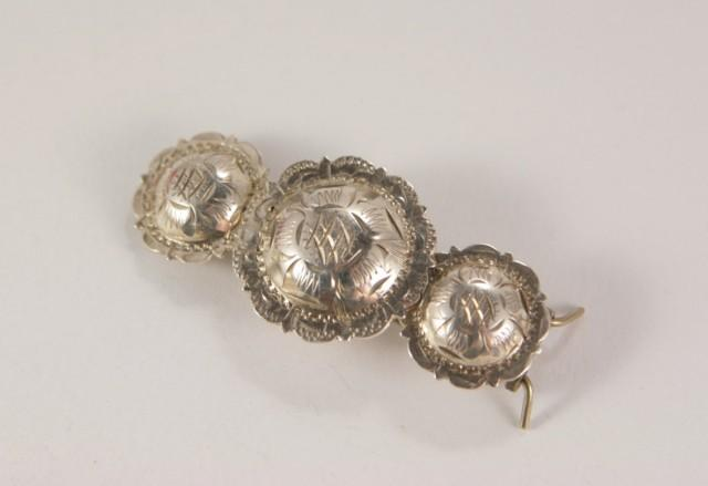 Vintage Sterling Silver Hair Clip Mexico Hair Comb