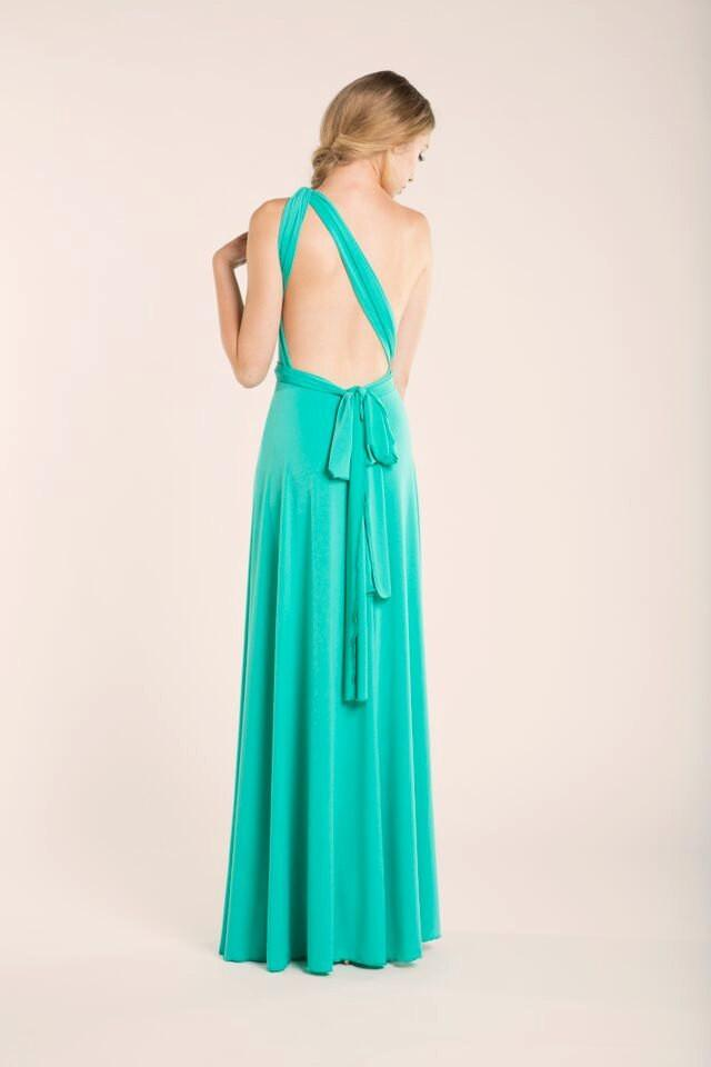 Light Turquoise Floor Length Infininty Dress, Light ...