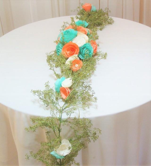 Table runner paper flower arch coral floral arch floral valance table runner paper flower arch coral floral arch floral valance floral garland artificial flower arch baby shower decor home decor 2457050 mightylinksfo