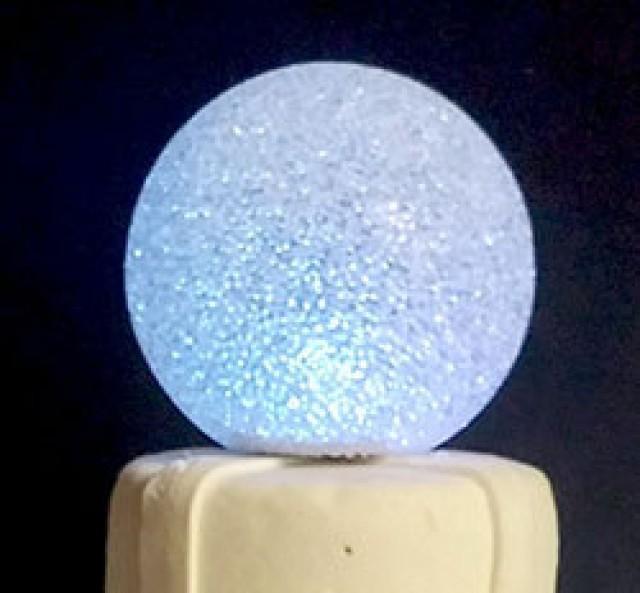 Led orb light up multi color cake topper wedding cocktail