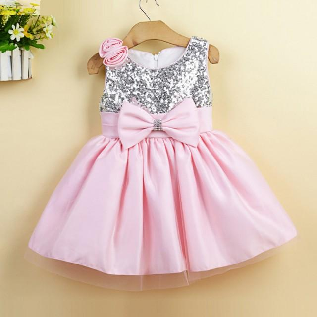 White And Baby Pink Flower Girl Dresses 17