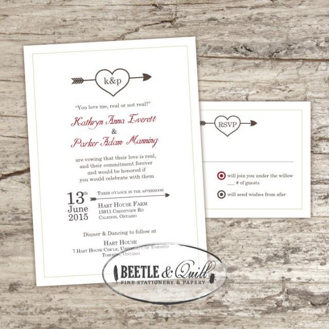 wedding photo - Odds in Our Favor Printable Wedding Invitation Set