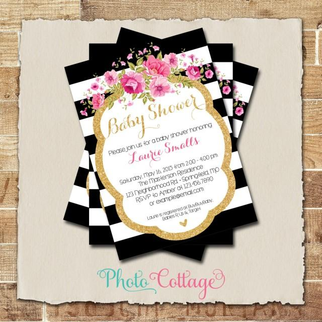 pink invitation baby shower invitations black and gold invites baby