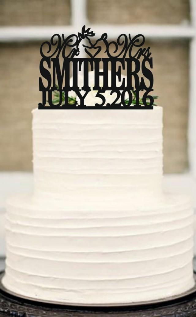 wedding photo - Buck and Doe Wedding Cake Topper,Deer Wedding Cake Topper,Country Wedding Cake Topper,rustic wedding cake topper,Personalized cake topper