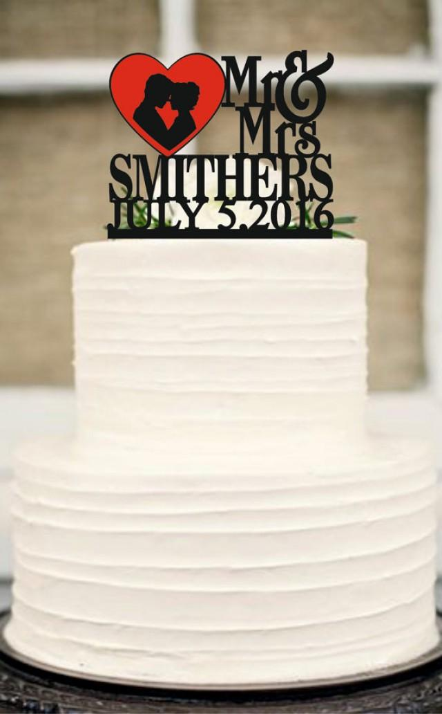 wedding photo - Wedding Cake Topper,Mr and Mrs wedding Cake Topper With Surname,Heart Topper,Custom Cake Topper,Personalized Cake Topper,Rustic Cake Topper