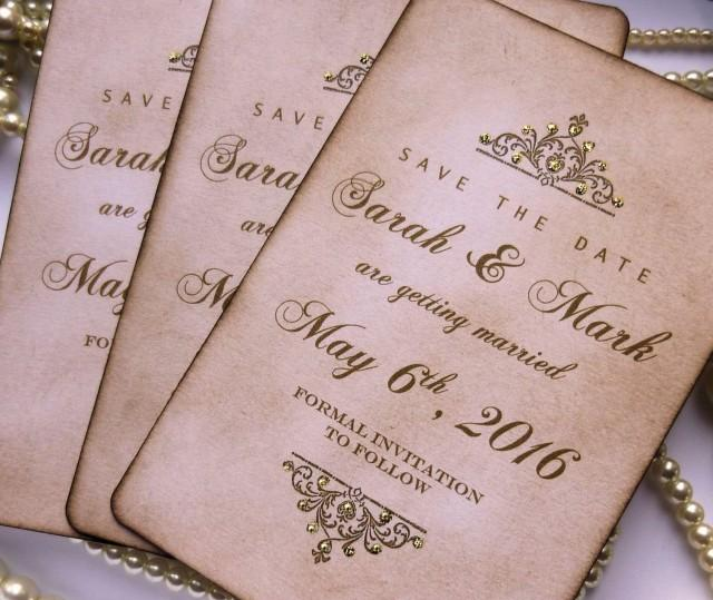 Golden Save The Date For Wedding Invitation Wedding: Save The Dates, Wedding Save The Dates, Luxury Save The