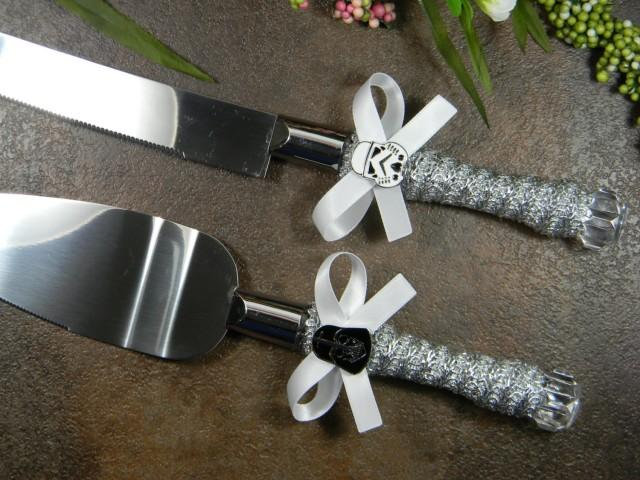 Wedding Cake Knife And Server Set