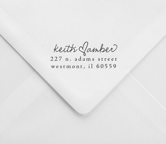 Wedding Return Address Stamp