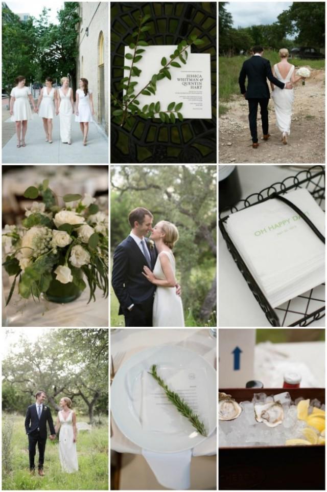 Clean modern chic austin wedding weddbook for Wedding dress cleaning austin