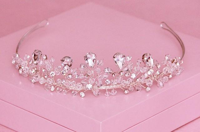Crystal Rhinestone Tiaras Flower Girl Crown Baby Hairbow Baby Headpiece 2459803 , Weddbook