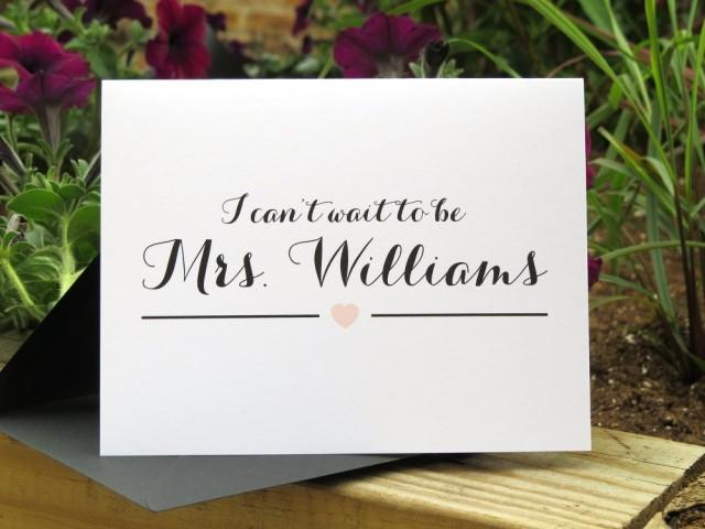 Gifts For Fiance On Wedding Day: Custom Color Wedding Day Card For Your Groom, Fiance