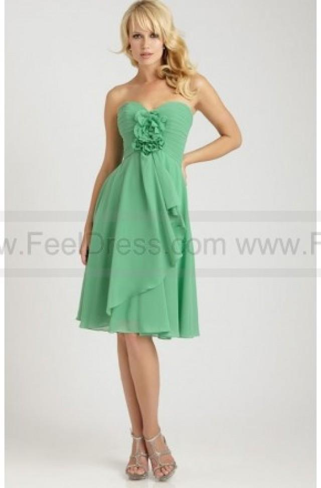 wedding photo - Cute Sweetheart Flower Chiffon Short Bridesmaids Dress