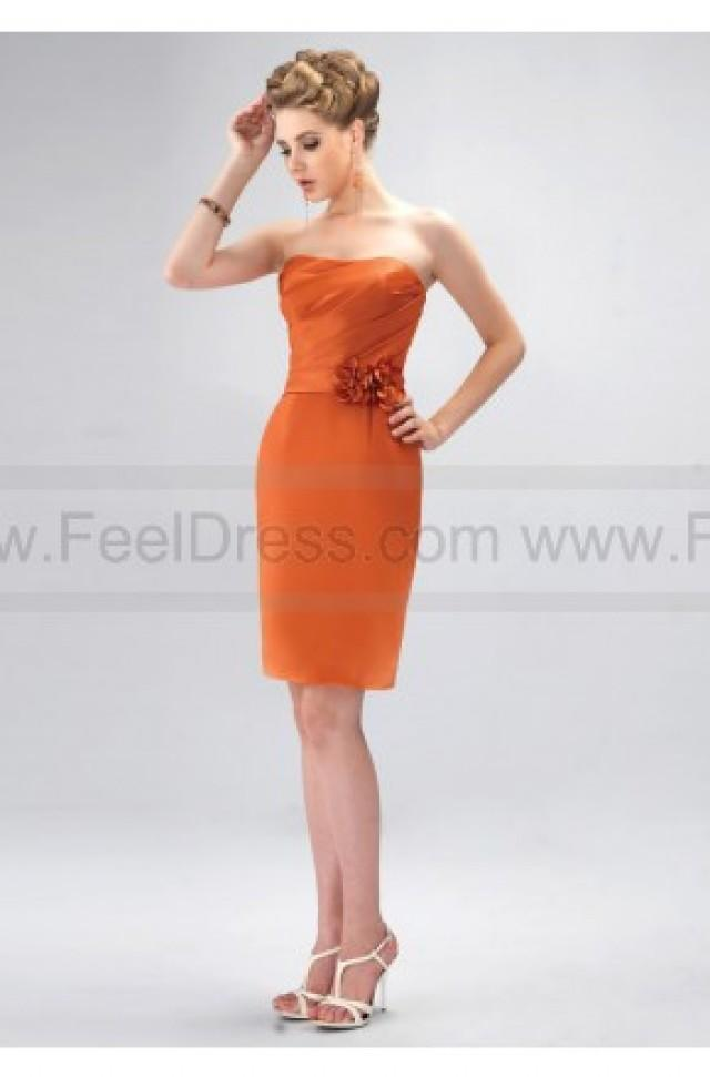 wedding photo - New Arrival Strapless Flower Trimmed Bridesmaid Dress