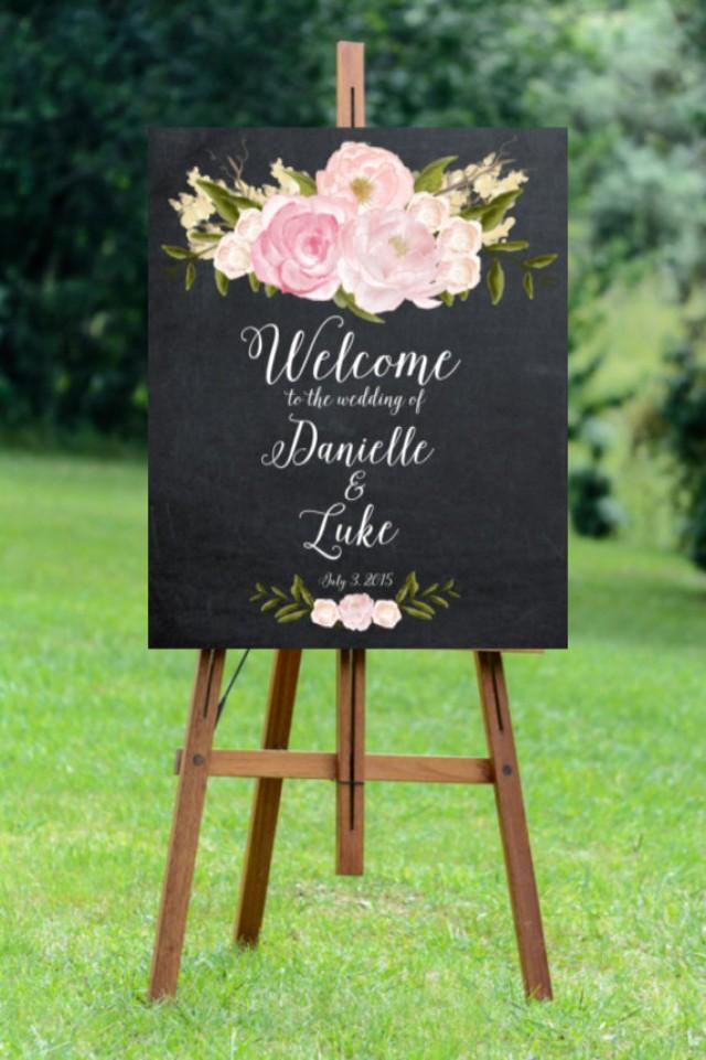 Printable Wedding Sign, Welcome Wedding Sign, Digital