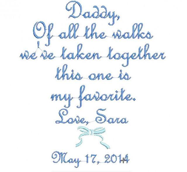Father of the bride handkerchief hanky hankie of all the walks this