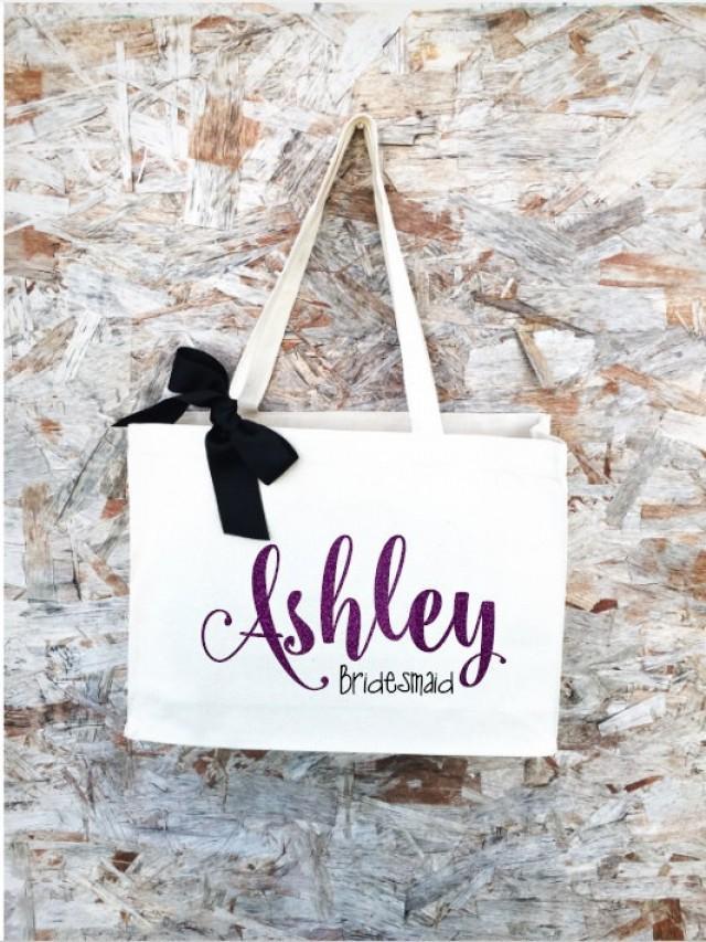 bridal tote bride bag bridesmaid tote bridesmaid bag personalized tote personalized name. Black Bedroom Furniture Sets. Home Design Ideas