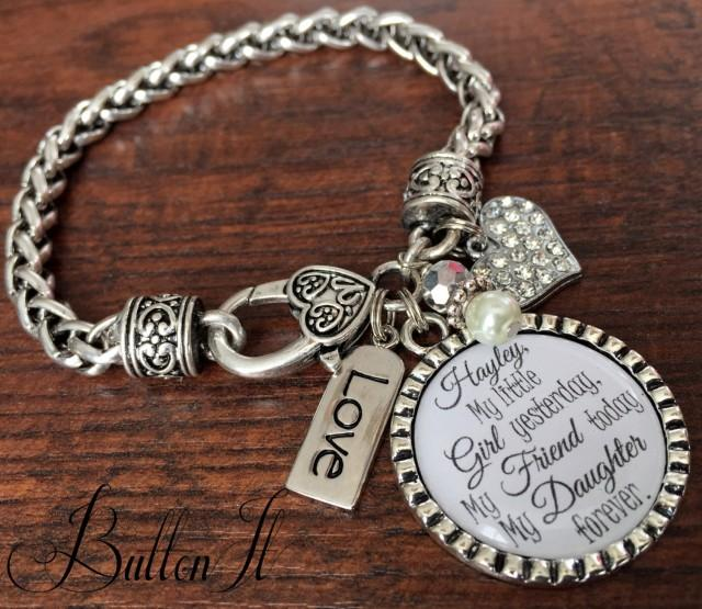 Bracelet, Personalized Wedding, Mother Daughter Jewelry, Wedding Gift ...