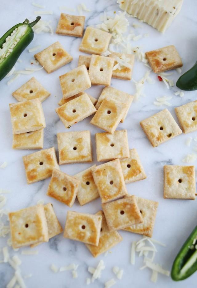 wedding photo - Homemade Pepper Jack Crackers