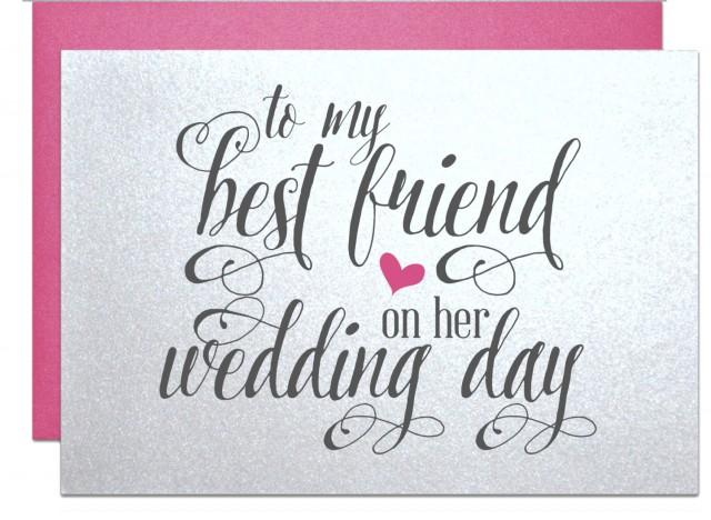 Wedding Gift Message For Best Friend : Best Friend Wedding Bridal Shower Gift Cards For Best Friend Wedding ...